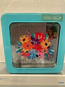 THE PIONEER WOMAN BIRTHDAY FLORAL DESIGN 7.5 INCH SQUARE WINDOW TIN HARD TO FIND