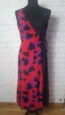 ASOS TALL Leopard Print Mix Wrap Midi Dress uk 6