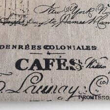CAFES Natural LINEN - Cotton Fabric. Price per 1/2 metre