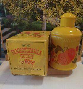 Vintage Patchwork foaming bath oil, Avon. Pennsylvania Dutch w/ box 6 fl oz FULL
