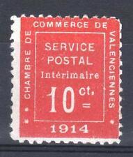 """FRANCE GUERRE 1 """" CHAMBRE DE COMMERCE VALENCIENNES 1914 """" NEUF (x) TB  P438"""