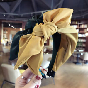 Women's Fabric Hair Band Bow Wide Headband Knot Alice Head Band Hair Accessories