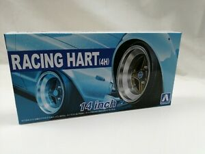 1/24 scale Aoshima Wheels 14 inch Takechi Project RACING HART 4H new parts