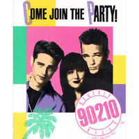 BEVERLY HILLS 90210 INVITATIONS (8) ~ Vintage Birthday Party Supplies Invites