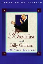 Breakfast with Billy Graham: 120 Daily Readings (Walker Large Print Books) by Bi