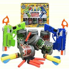 Street Kidz Safe Twin Dart Gun Can-bustertin Can Shooting Game Indoor or Outdoor