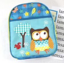 Punctuate Owl Blue Insulated Lunch Tote Bag