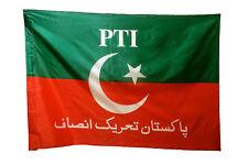 Hand Stitched Pakistan Tehreek-e-Insaf PTI Flag - Red And Green