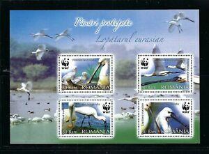 Romania 2006 Sc#4890a  Birds-Eurasian Spoonbills  MNH Souvenir Sheet