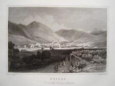 Brixen Bressanone Tirolot Tyrol Italy Italia Old Steel Engraving 1844 No. 2