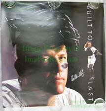 NITF Vintage NIKE Baseball Poster Built To Last SIGNED Carlton Fisk White Sox