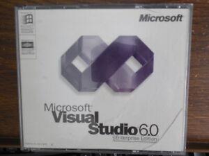 Microsoft Visual Studio 6.0 6 Enterprise 628-00403 BASIC FOXPRO C++ Commercial