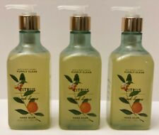 3 Bath & Body Works Citrus & Oak Leaves Hand Soap with Olive Oil 10 fl oz  New