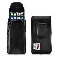 Turtleback iPhone SE 5 5s Black Vertical Leather Pouch Holster Black Clip Case