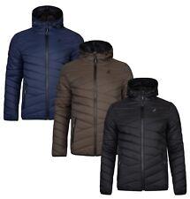 Kangol Men's Quilt Puffer Jacket Edson Lightly Padded Warm Hooded Outdoor Coat