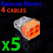 5x Conector empalme rapido 4 CABLES 2,5mm terminales pines regleta