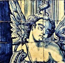 Vintage Ceramic Tile Portuguese Azulejo European Trivet Art Nouveau Talavera