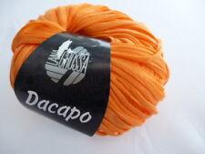 DACAPO 50g Lana Grossa voluminöses webbändchen Color 024 NARANJA