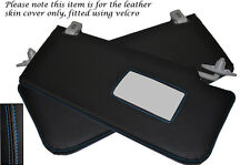 BLUE STITCH FITS ROVER 45 400 MG ZS 98-05 2X SUN VISORS LEATHER COVERS ONLY