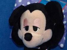 NEW SLEEPY BEDTIME SLEEPOVER DISNEY MICKEY MOUSE ON PILLOW PLUSH STUFFED ANIMAL