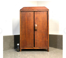 Vintage scratch built rustic French miniature wardrobe. Doll furniture