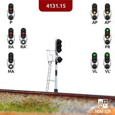 Mafen - 4131.15 - Señal luminosa 3 aspectos (verde/rojo/ambar) + r/a (blanco)