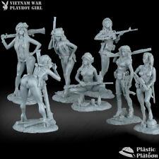 Plastic Platoon Toy Soldier Vietnam War Playboy Girl 1968, Set 7 pc, 1/32 (54mm)