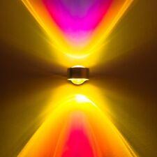 LED Wandleuchte Lampe Strahler Wohn Flur Zimmer Up Down Farbfilter blau magenta