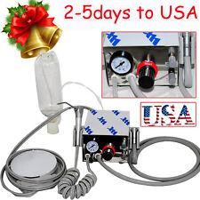 【US seller】 Dental Portable Air Turbine Unit 4H 4hole work w/ Compressor bottle