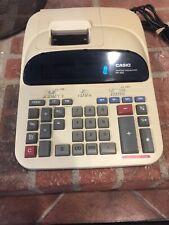 Casio Pr420 Printing Calculator 2 Color Ribbon Print Desktop Corded Vintage 80s