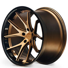 "4ea 19x8.5"" Ferrada Wheels FR2 Matte Bronze with Gloss Black Lip Rims(S3)"