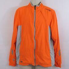 Saucony Mens Medium Neon Orange ViziPro Full Zip Running Track Jacket