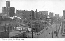 "Des Moines Iowa~Business Section Bird's Eye View~""Night Before Christmas""~1908"