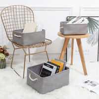 Storage Cube Folding Drawers Clothes Stackable Organizer Box Bin Laundry Baskets