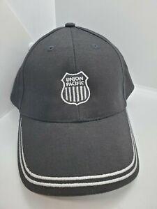 Black Union Pacific Railroad Strapback Hat Cap