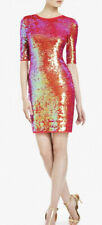 BCBG max azria Marta Dress Red Sequin Sz M