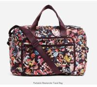NWT Vera Bradley Packable Weekender Travel Bag in Indiana Blossoms