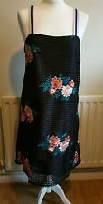 ZARA FLORA EMBROIDERED DRESS, SIZE UK M / USA M / EUR M