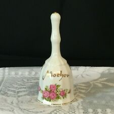 """Enesco Vintage Bone China 5.5"""" Mother Bell With Flowers"""