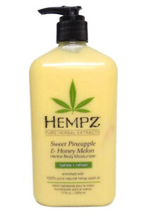 Hempz SWEET PINEAPPLE HONEY MELON Herbal Body Moisturizer 17 oz