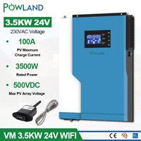 3.5KW Solar Inverter 220V MPPT Solar Controller Pure Sine Wave 100A 500VDC 24V