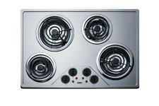 """Summit CR430SS Stainless Steel 30""""W Ada Compliant Built-In Electric Cooktop"""