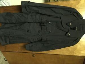Military US Army Trench Coat Mens 40 Regular Black With Liner