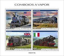 More details for mozambique 2021 mnh trains stamps steam engines locomotives railways rail 4v m/s