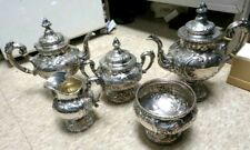 Antique Lovely-Reed & Barton Flora Sterling -5 Piece-Tea Set- Pre-1950's 125ozs