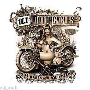 Classic Motorcycle Sexy HEAT PRESS TRANSFER for T Shirt Sweatshirt Fabric #049g