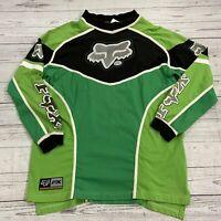 Vintage Fox FX Racing Green Long Sleeve T Shirt Jersey Men Size XL Performance R