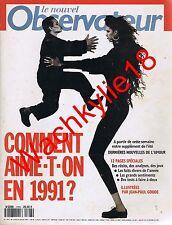 Le nouvel observateur n°1393 18/07/1991 Amour Jean-Poule Goude Courses hippiques