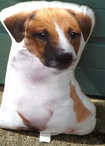 Jack Russell terrier cushion , Jack Russell large plush cushion