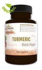 Fresh Organic Turmeric and Black Pepper 120 Capsules plus  Piperine and Curcumin